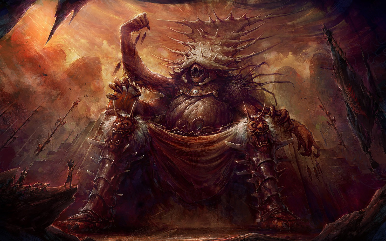 evil god fantasy-art-blaz-porenta-god-of-carnage